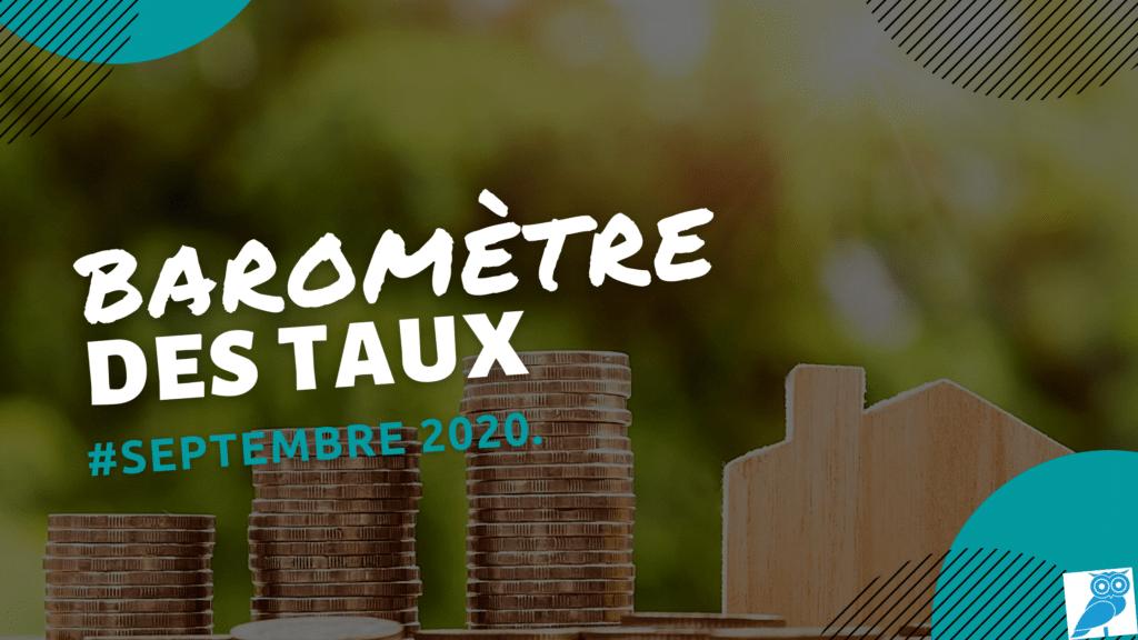 BAROMETRE DES TAUX SEPTEMBRE 2020 (wecompress.com)